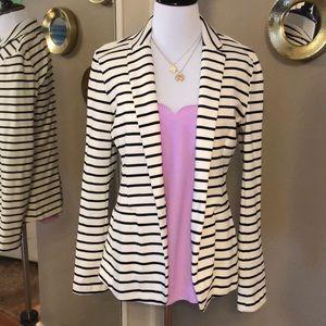 Old Navy Cream and Black striped blazer NWOT